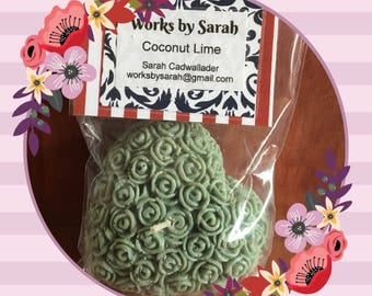 COCONUT LIME heart candle