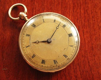 RARE Antique Solid 18K Gold Quarter Repetear Pocket Watch - 19th Century