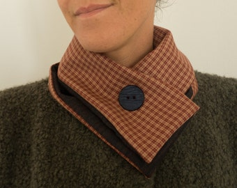 Wool checkered wrap