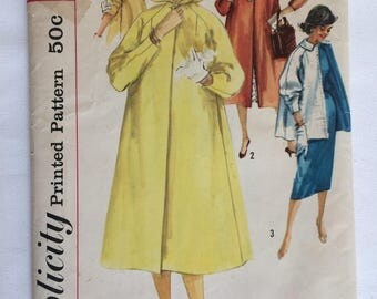 1950's Hooded Coat Pattern Simplicity 1928 Size 14