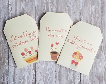 Real Estate Seed Packets, Real Estate Business Cards, Unique Business Cards, Seed Packets