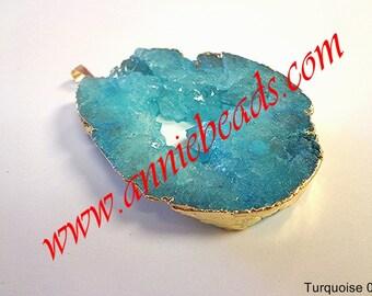 Beautiful Turquoise Color Druzy Pendant!!!!