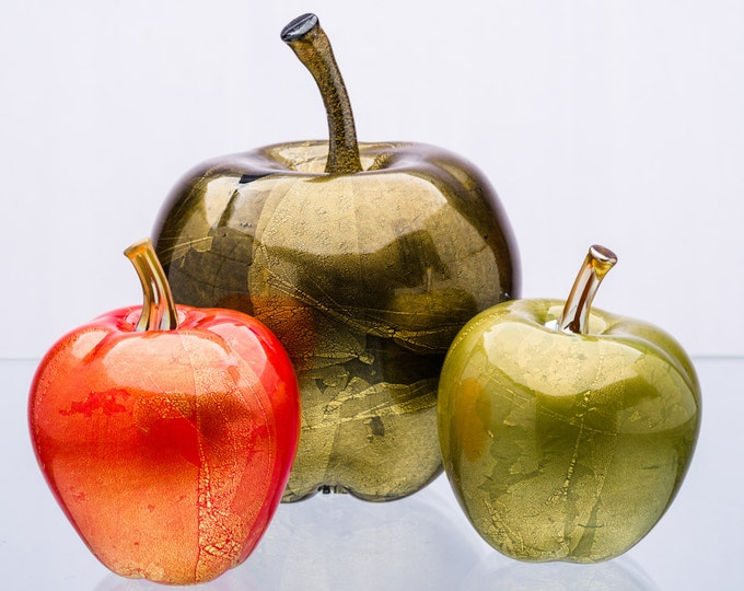 Gold Foiled Apple Sculptures