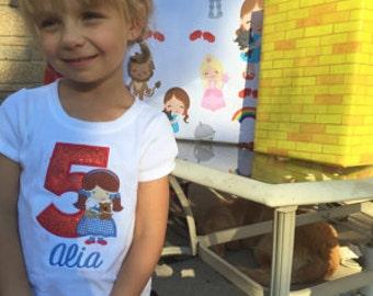 Dorothy Applique Birthday Shirt, Wizard of Oz Dorothy Inspired Birthday Shirt, Dorothy Birthday Party, Wizard of Oz