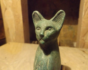 Egyptian cat statue of Bast / Bastet - A Goddess of music , dance , joy, hunting