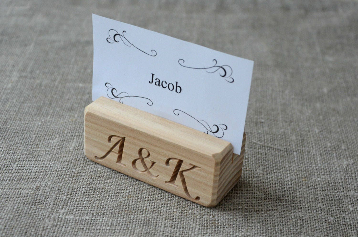 Personalized Wood Table Number Holders For Wedding And Party - Custom restaurant table numbers