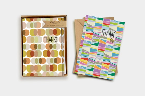 Geometric Thank You Card Boxed Set