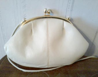 Small bag purse pocket purse leather beige