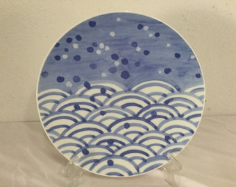 "Mikasa Bone China ""Celestial"" A7712 Plate Fujikake Design"