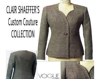 Vogue 8519, CLAIR SHAEFFER, Women Blazer, Sewing Pattern, Tailor Fit, Sweetheart Neckline, Designer, Suit Jacket, Size 6-8-10-12, UNCUT