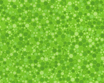 Hexies - Lime Green 2034-5 by RJR Fabrics Cotton Fabric Yardage