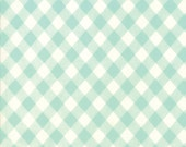 Bonnie and Camille Basics, Vintage Picnic, Aqua Gingham,  Moda Fabrics, #55124-35