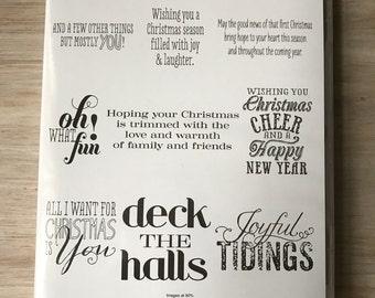 Destash New Stampin Up Christmas Messages Stamp Set
