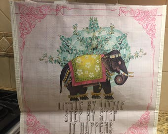 Market Shopper - Little elephant by Papaya art  SALE!!