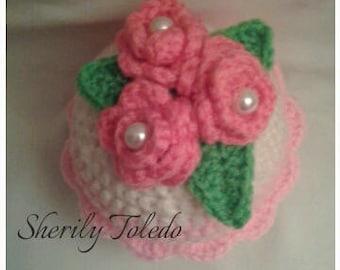 PATTERN - Cupcake Flower - Crochet Amigurumi Pattern