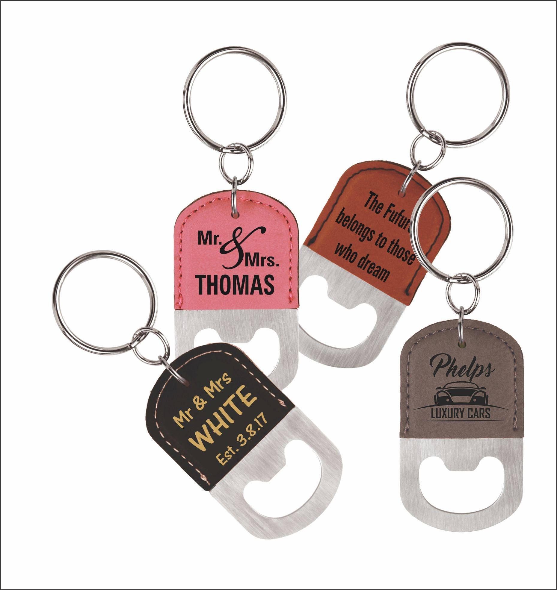 4 (FOUR) GROOMSMEN Custom Bottle Opener Keychains, 4-Set Keyrings ...