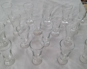 Set of Vintage 18 Ice Cream Sundae Soda Fountain glass unknown maker