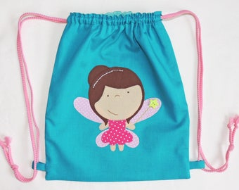 Fairy with sliding links - cotton backpack