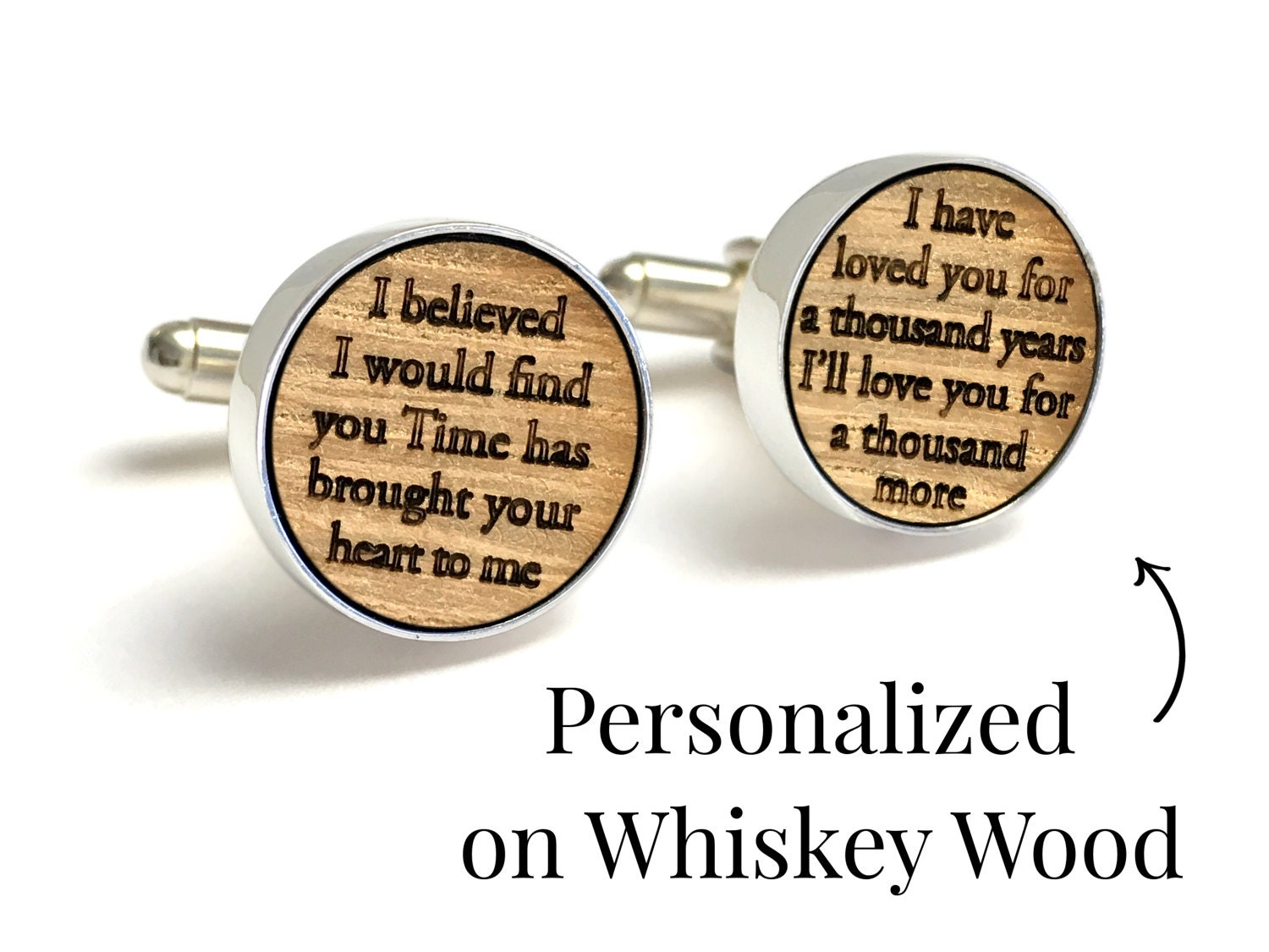 5 Year Anniversary Gift / Wedding Cufflinks / Gift for Husband ...