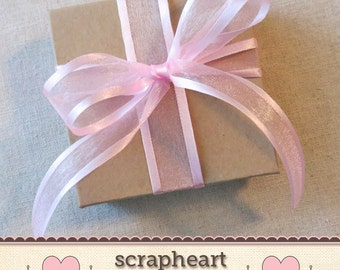 Wrap It Up!  Pink Organza Ribbon Gift Wrap for Any Item in Shop