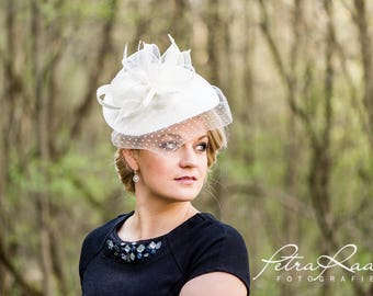 Hat Royal Ascot has ball Hat Kentucky-Derby horse racing has couture millinery Sinamay wedding Fascinator U5