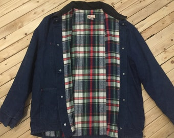Vermont Country Store Barn Jacket Chore Coat Blanket Lined Jacket