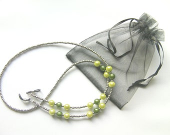 Handcrafted Moss Grey Spectacle Glasses Chain