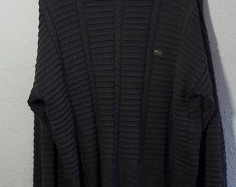 Lacoste chemise vintage RARE Sweater Pullover Dark Grey Men 80s 90s men XL