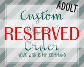 CUSTOM ORDER for andreaminson1, Custom Shirt