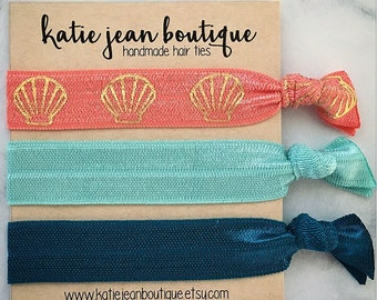 "Elastic Hair Ties - The ""Ariel"" Collection"