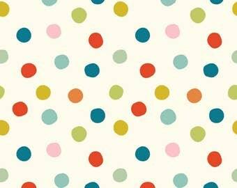 Mod Basics 3 - Pop Dots Multi - Birch Fabrics (MB3-03-Multi) - Organic Cotton
