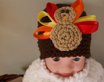 baby girl turkey hat, newborn girl turkey hat, turkey baby hats, Thanksgiving baby hat, Thanksgiving baby photo prop, baby turkey clothes