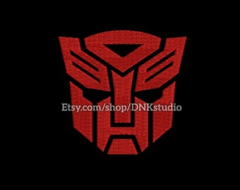 Transformers Autobot Machine Embroidery Design - 6 Sizes - INSTANT DOWNLOAD