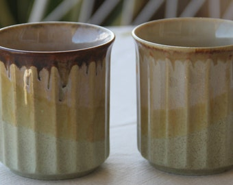 Ceramic Coffee Mugs , Vintage, 1970s Retro (2)