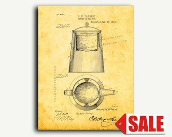 Patent Print - Coffee Or Tea Pot Patent Wall Art Poster