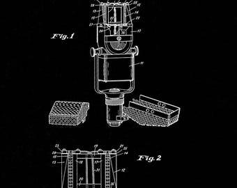 CLEARANCE - Microphone Patent Print - 24x36 Black