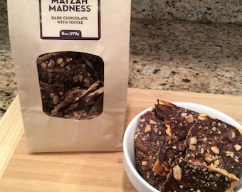 Matzah Madness®   Dark Chocolate with Toffee