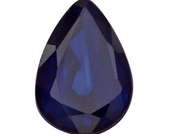 Blue Sapphire Diffused Loose Gemstone Pear Cut 1A Quality 6x4mm TGW 0.40 cts.