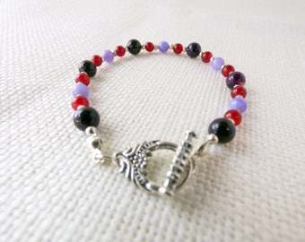 Red and Purple Braclet