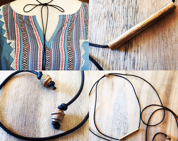 Choker wrap, leather choker, leather wrap leather wrap necklace, choker necklace