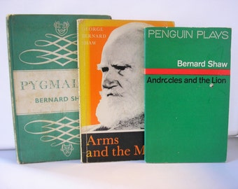 THREE George Bernard Shaw Plays, Androcles and the Lion, Arms & the Man, Pygmalion twentieth century literature English Irish 75