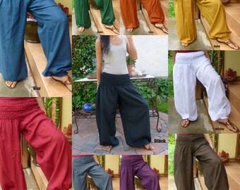 Thai Harem Pants Aladdin Pants Harem Trousers Sarouel Cotton Yoga Pants Baggy Pants Travel Pants Hippie Pants Genie Pants * Free Shipping*PS