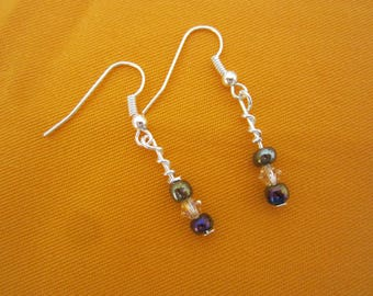 Ocean mist Swarovski pieces earrings