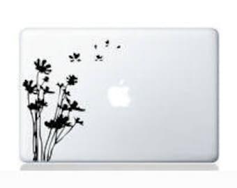 Laptop decal – Laptop Sticker – Macbook Pro decal – Macbook Air decal – Car window – Hipster - Dandelion - Flower