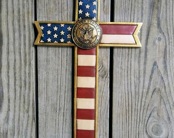 Army flag cross