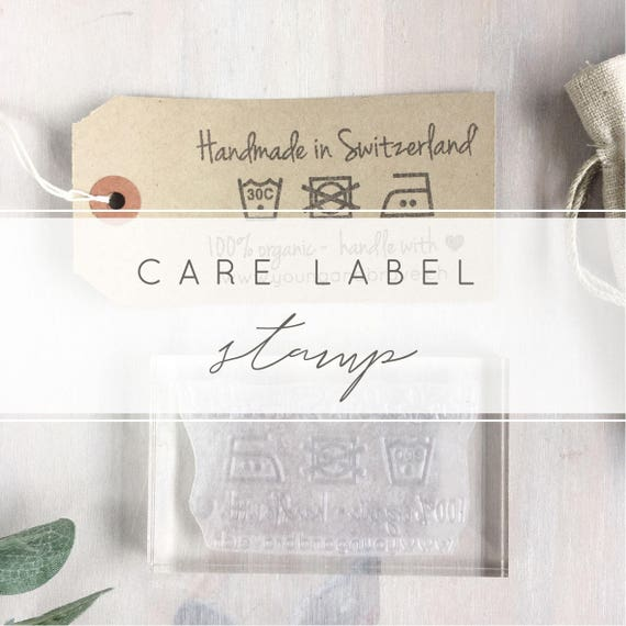 Custom Care Label Stamp Washing Instructions For Fabric