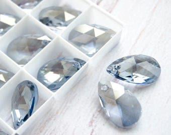 22 mm Swarovski Drop Pendant Blue Shade Teardrop 6106