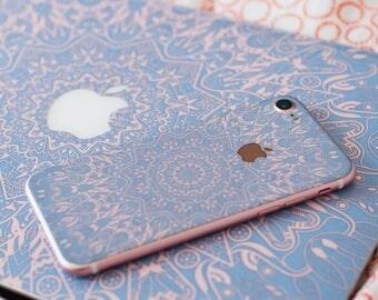 iPhone 7 rose serenity mandala iphone skin iPhone 6 skin iPhone 7 skin pink iPhone 5 vinyl sticker violet # Serenity Mandala