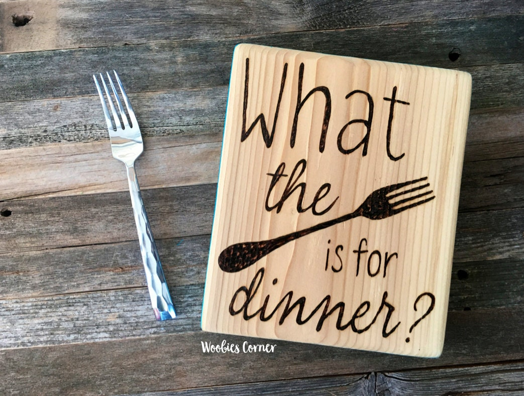 Kitchen Decor Signs Rustic Kitchen Decor Funny Kitchen Signs What The Fork Is