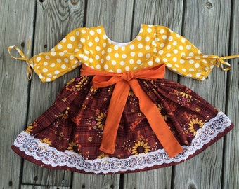 Fall sunflower dress